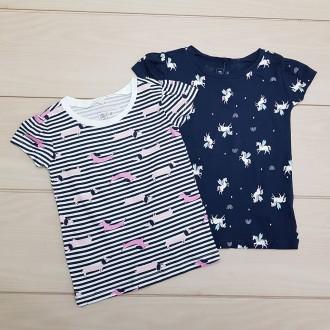 تی شرت دخترانه 24687 سایز 2 تا 7 سال مارک KIDS&CO