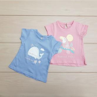 تی شرت دخترانه 24561 سایز 6 ماه تا 4 سال مارک UNIT KIDS