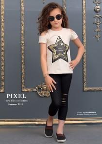 بلوز و ساپورت دخترانه طرح ستاره مارک pixel کد 6000633
