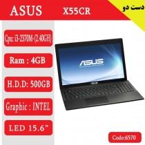 لپ تاپ استوک asus x55cr  کد 17935