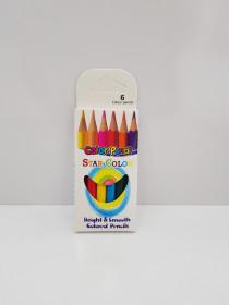 مداد رنگی کوتاه 6 عددی 404506