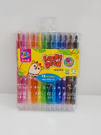 مداد شمعی پیچی 12 عددی 404510
