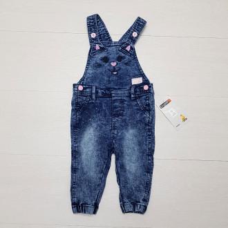پیشبندار جینز دخترانه 25835 سایز 4 تا 18 ماه مارک ERGEE