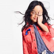 کت جینز دخترانه 25888 سایز 3 تا 14 سال مارک OKAIDI