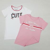 تی شرت دخترانه 26618 سایز 7 تا 15 سال مارک PRIMARK
