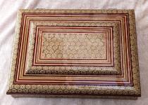 جعبه قرآن خاتم تخمه دار ۲۲×۳۲ کد 220056