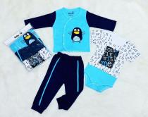 سه تکه پسرانه پنگوئن برند بیبی وان (baby one) کد 6001348