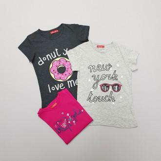 تی شرت دخترانه 27756 سایز 8 تا 16 سال مارک TISAIA