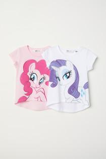 تی شرت دخترانه 26375 سایز 2 تا 10 سال مارک H&M   *