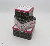جعبه سه تکه فلزی مربع 18864
