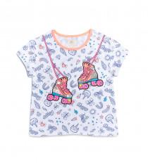تی شرت دخترانه 27972 سایز 4 تا 10 مارک Garanimals