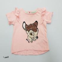 تی شرت دخترانه 28178 سایز بدوتولد تا 36 ماه مارک DISNEY