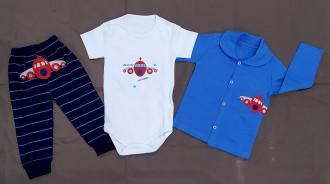 لباس سه تیکه کودک مدل هواپیما کد 2204043