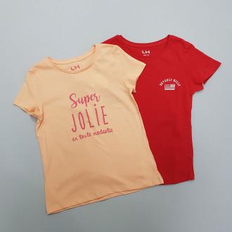 تی شرت دخترانه 28441 سایز 3 تا 10 سال مارک LH