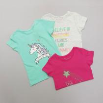 تی شرت دخترانه 28524 سایز 1.5 تا 10 سال مارک PRIMARK