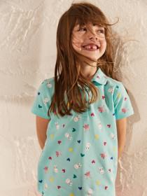 تی شرت دخترانه 28699 سایز 3 تا 13 سال مارک LC WALKIKI