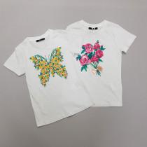 تی شرت دخترانه 28707 سایز 4 تا 12 سال مارک FABELIC