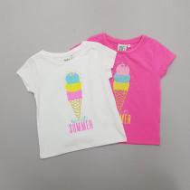تی شرت دخترانه 28750 سایز 1 تا 7 سال مارک Peppapig