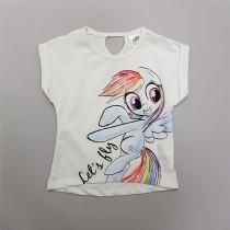 تی شرت دخترانه 28732 سایز 3 تا 8 سال کد 2 مارک PONY