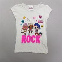 تی شرت دخترانه 28732 سایز 5 تا 10 سال کد 4 مارک LOL