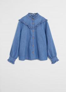 پیراهن جینز زنانه 29136 سایز 38 تا 46 مارک MANGO