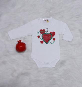 بادی کودک مدل قلب هندوانه کد 2204116