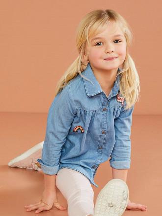 بلوز جینز دخترانه 29454 سایز 2 تا 14 سال مارک VERT BAUDET   *