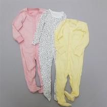 سرهمی 3 عددی جورابدار دخترانه 30131 سایز بدوتولد تا 24 ماه
