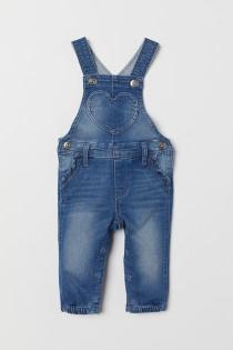پیشبندار جینز دخترانه 28528 سایز 3 ماه تا 3 سال مارک h&m   *