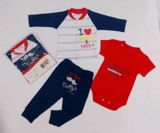لباس سه تیکه کودک مدل dady کد 2204202