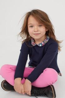 شلوار جینز دخترانه 30706 سایز 1.5 تا 10 سال مارک H&M