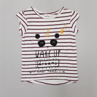 تی شرت دخترانه 31767 سایز 2 تا 12 سال مار TAPEA LOEIL