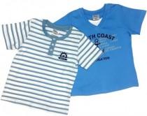تی شرت آستین کوتاه دو عددی پسرانه 15222 سایز 3 ماه تا 4 سال مارک impidimpi