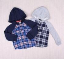 پیراهن گرم کلاه دار پسرانه 18238 سایز 6 ماه تا 6 سال مارک OSHKOSH