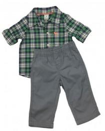 پیراهن با شلوار پسرانه 15371 سایز 3 تا 18 ماه مارک CARTERS