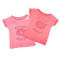 تی شرت دخترانه 18147 سایز 2 تا 12 سال مارک LISA ROSE