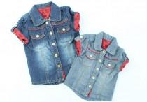 بلوز جینز دخترانه 100013 سایز 3 تا 24 ماه مارک MOTHERCARE