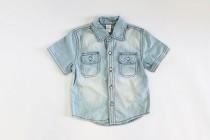 پیراهن جینز پسرانه 15469 سایز 3 تا 24 ماه مارک ZARA