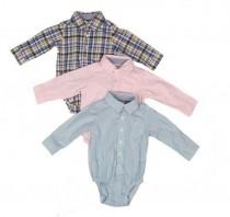 پیراهن زیردکمه دار پسرانه 16717 سایز بدوتولد تا 24 ماه مارک Carters