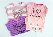تی شرت دخترانه 15511 سایز 8 تا 14 سال مارک MAX