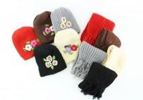 شال و کلاه دخترانه 80019 مناسب برای سن 2 تا 6 سال