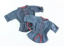 بلوز جینز دخترانه 100097 سایز 9 تا 36 ماه مارک ZARA محصول بنگلادش