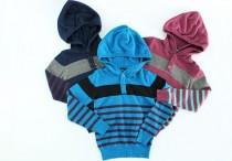 بافت کلاه دار پسرانه 100128 سایز 2 تا 8 سال مارک OKAIDI محصول بنگلادش