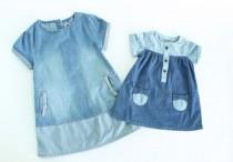 سارافون جینز دخترانه 100158 سایز 3 تا 24 ماه مارک F&F محصول بنگلادش