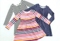 پیراهن دخترانه 100174 سایز 3 تا 6 سال مارک H&M محصول بنگلادش