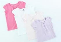 تی شرت دخترانه 100249 سایز 9 ماه تا 8 سال مارک H&M محصول بنگلادش