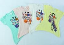 تی شرت دخترانه 100261 سایز 2 تا 5 سال مارک H&M محصول بنگلادش
