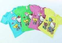 تی شرت دخترانه 100262 سایز 9 ماه تا 2 سال مارک HELLO  KITTY محصول بنگلادش