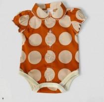 پیراهن زیردکمه دار دخترانه 100521 سایز بدو تولد تا 18 ماه مارک Carters