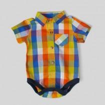 پیراهن زیردکمه دار پسرانه 100522 سایز بدو تولد تا 18 ماه مارک Carters